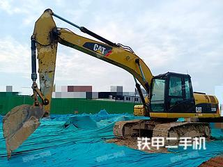 聊城卡特彼勒320D液壓挖掘機實拍圖片