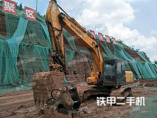 四川-成都市二手现代R225LC-7挖掘机实拍照片