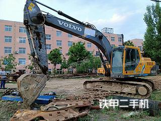 淄博沃尔沃EC210B挖掘机实拍图片