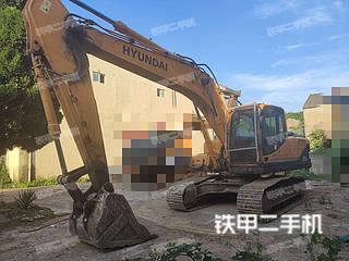 安徽-蚌埠市二手现代R215-9挖掘机实拍照片