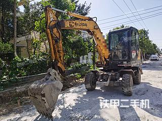 現代R60W-7挖掘機實拍圖片