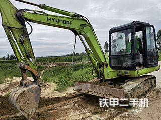 現代R60-5挖掘機實拍圖片