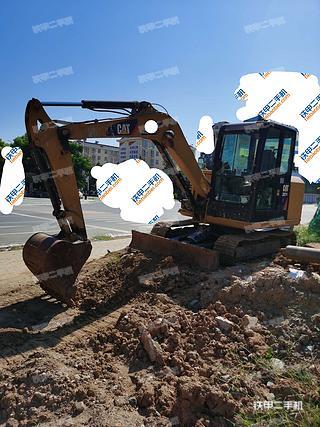 陕西-汉中市二手卡特彼勒305.5E2小型液压挖掘机实拍照片