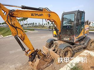 徐州新源XYC75W-9挖掘機實拍圖片