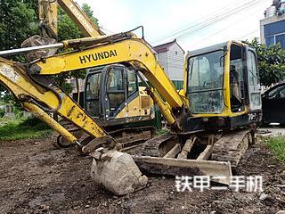 江苏-常州市二手现代R60-7挖掘机实拍照片