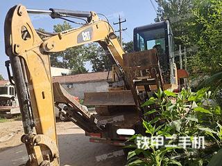 河南-濮阳市二手卡特彼勒305.5E2小型液压挖掘机实拍照片