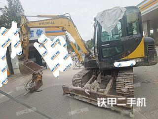 山东-烟台市二手现代R60-7挖掘机实拍照片
