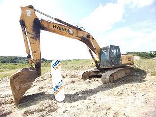 現代R335LC-7挖掘機實拍圖片