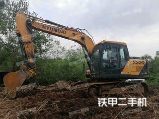 現代R130VS挖掘機實拍圖片