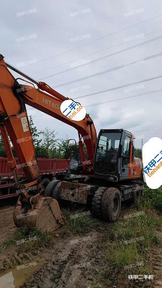 北京日立ZX130W挖掘機實拍圖片