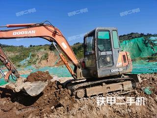 山东-烟台市二手斗山DH55-V挖掘机实拍照片
