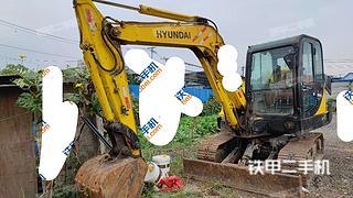 北京現代R60-7挖掘機實拍圖片