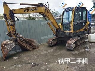 贵州-六盘水市二手现代R60-7挖掘机实拍照片