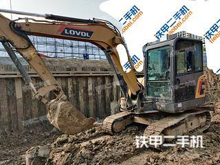 江苏-宿迁市二手雷沃重工FR65E挖掘机实拍照片