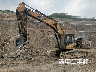 浙江-台州市二手卡特彼勒345D挖掘机实拍照片