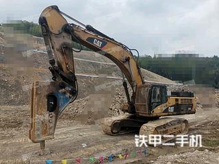 浙江-台州市二手卡特彼勒345C挖掘机实拍照片