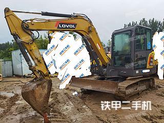 河南-郑州市二手雷沃重工FR65E挖掘机实拍照片