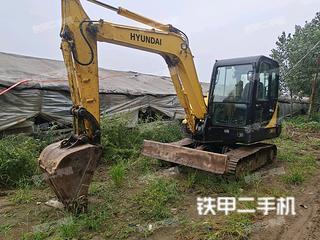山东-青岛市二手现代R60-7挖掘机实拍照片