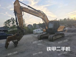 濟南現代R215VS挖掘機實拍圖片