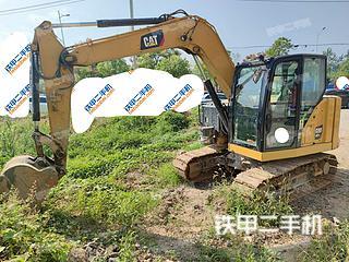 濟南卡特彼勒307.5小型液壓挖掘機實拍圖片