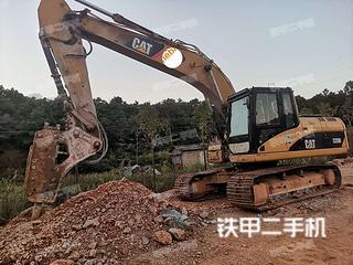 曲靖卡特彼勒320D液壓挖掘機實拍圖片