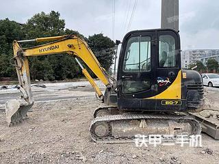 安徽-马鞍山市二手现代R60-7挖掘机实拍照片