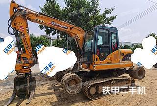 犀牛重工X9輪式履帶挖掘機實拍圖片