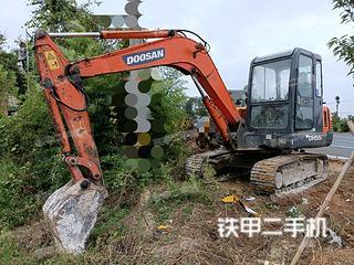 安徽-巢湖市二手斗山DH55-V挖掘机实拍照片