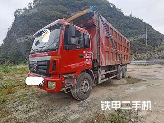 六盘水福田欧曼6X4工程自卸车实拍图片