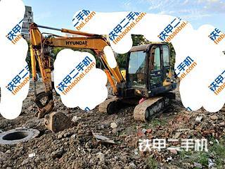 江苏-宿迁市二手现代R60-7挖掘机实拍照片