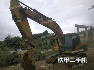百色卡特彼勒320D液壓挖掘機實拍圖片