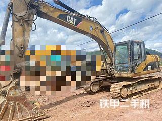 昆明卡特彼勒320D液壓挖掘機實拍圖片