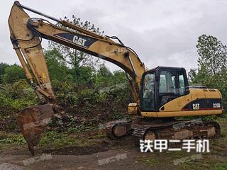 永州卡特彼勒320D液压挖掘机实拍图片