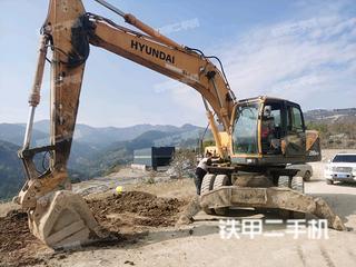 阳泉现代R210W-9挖掘机实拍图片