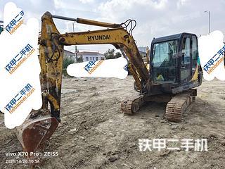 现代R60-7挖掘机实拍图片