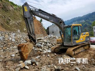 沃爾沃EC120D挖掘機實拍圖片