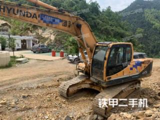 貴陽現代R215-9挖掘機實拍圖片