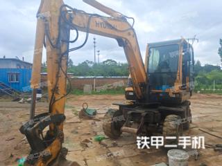 河北-秦皇岛市二手现代R60W-9挖掘机实拍照片