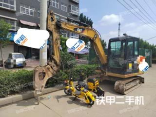 河南-漯河市二手卡特彼勒306E2小型液压挖掘机实拍照片