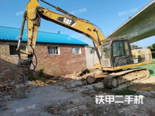 濟南卡特彼勒320D液壓挖掘機實拍圖片